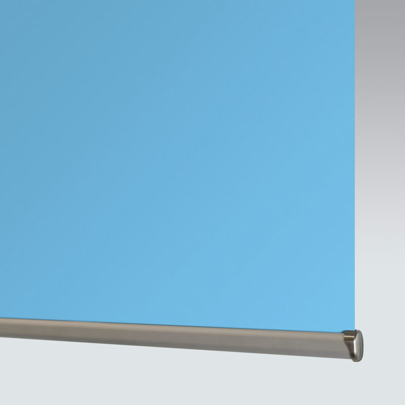 Banlight Duo FR Powder Blue Blackout Roller Blind